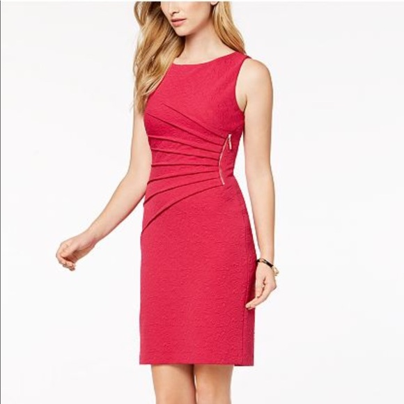 9a523df8 Ivanka Trump Dresses & Skirts - Ivanka Trump Textured Starburst Sheath Dress